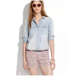 MADEWELL | Cutoff Floral Print Shorts In Flora 24